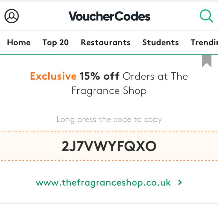 Voucher Codes affiliate example